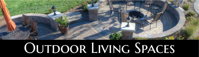 Large Brick paver patio with multiple seating areas