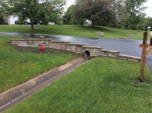 Driveway with a waterflow system underneath